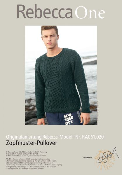 Zopfmuster-Pullover