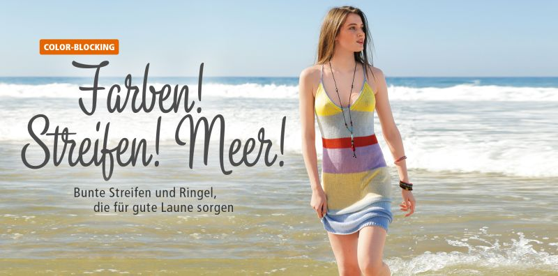 Color Blocking Streifen stricken Kleid stricken