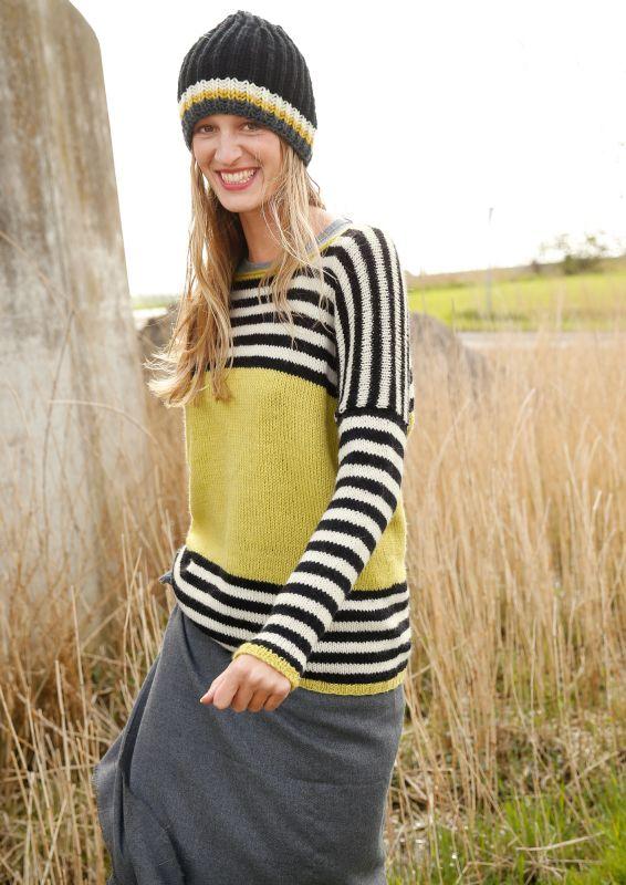 Pullover mit Streifen stricken