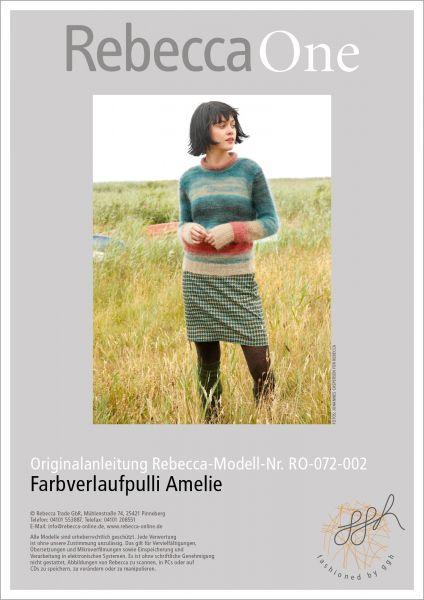 Strickanleitung - Farbverlaufpulli Amelie