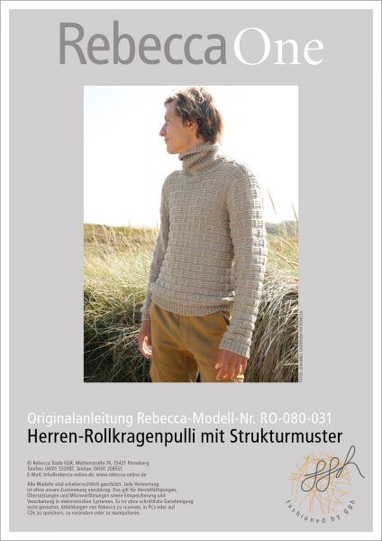 Anleitung - Herren-Rollkragenpulli