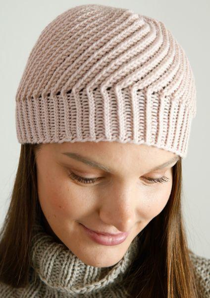 Diagonal gerippte Mütze
