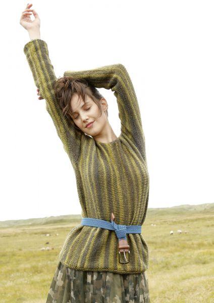 Quer gestrickter Pullover