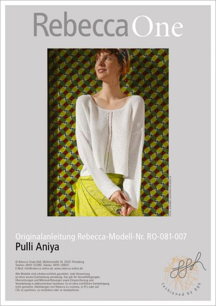 Anleitung - Pullover Aniya