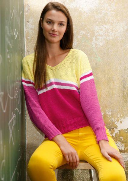 Pullover mit Farbflächen