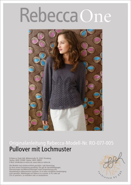Strickanleitung - Pullover mit Lochmuster