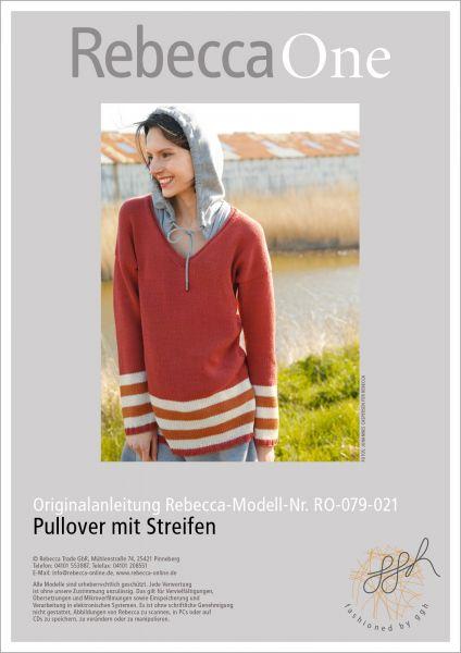 Anleitung - Pullover mit Streifen