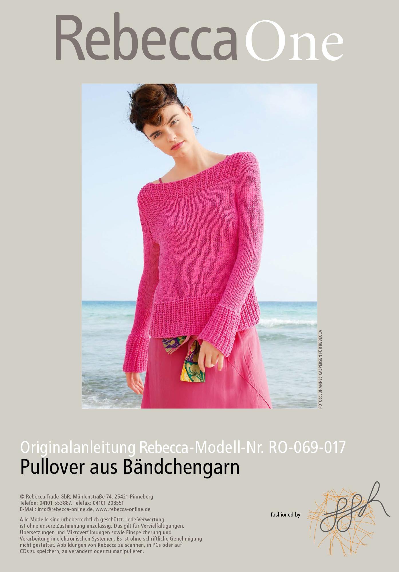 Strickmuster - Pullover aus Bändchengarn | Rebecca
