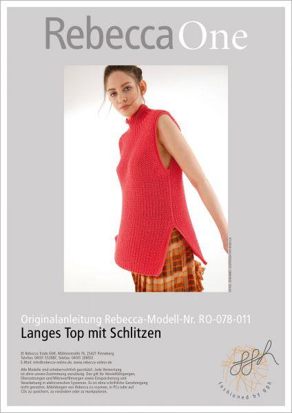 Anleitung - Langes Top mit Schlitzen