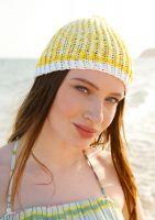 Weiß-gelbe Mütze