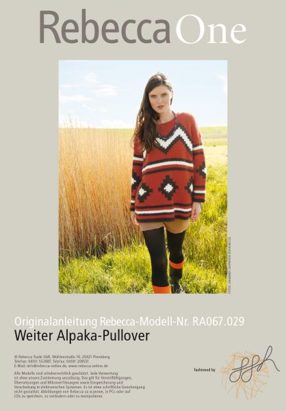 Weiter Alpaka Pullover