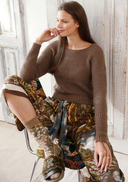 Pullover mit Musterstreifen