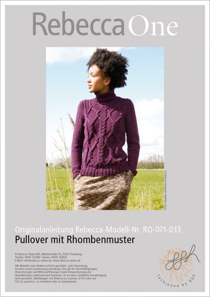 Strickanleitung - Pullover mit Rhombe