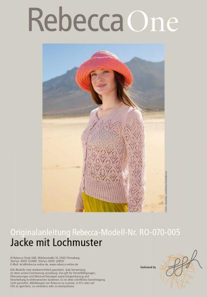 Strickmuster - Jacke mit Lochmuster