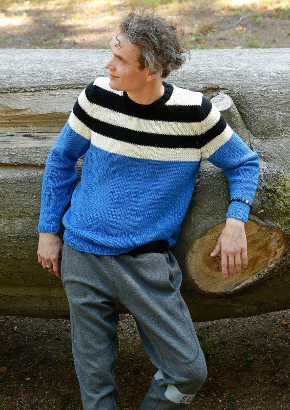 Herrenpullover mit Streifen HSV Pullover