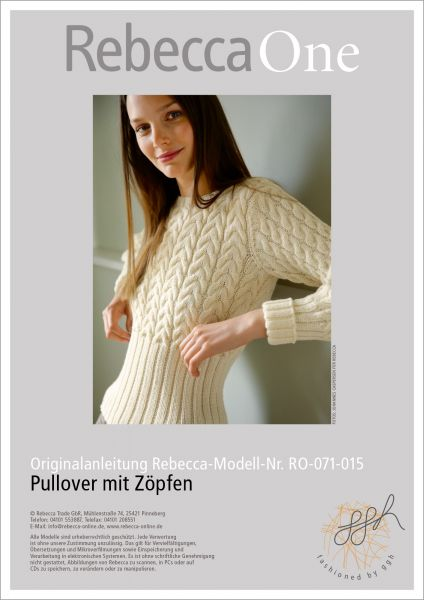 Knit Pattern Cable Knit Jumper Rebecca