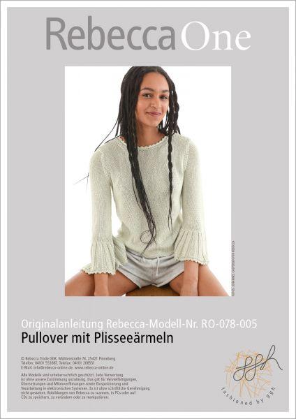 Anleitung - Pullover mit Plisseeärmeln