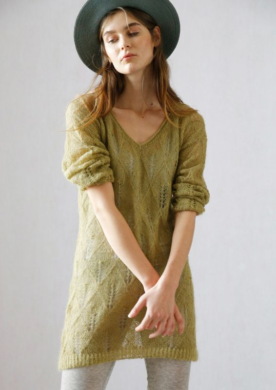 Pullover mit Lochmuster stricken