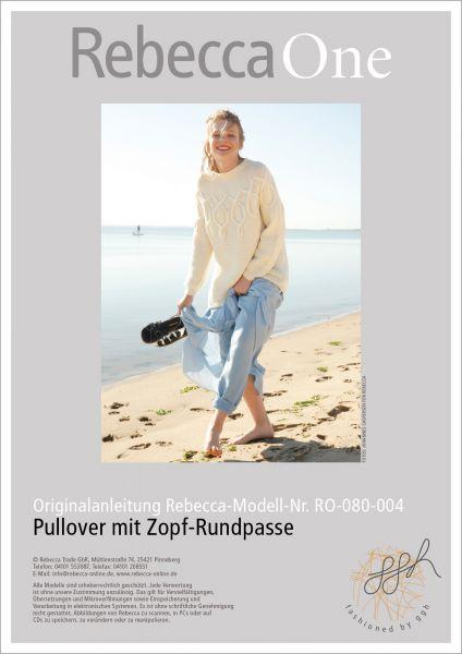Anleitung - Pullover mit Zopf-Rundpasse