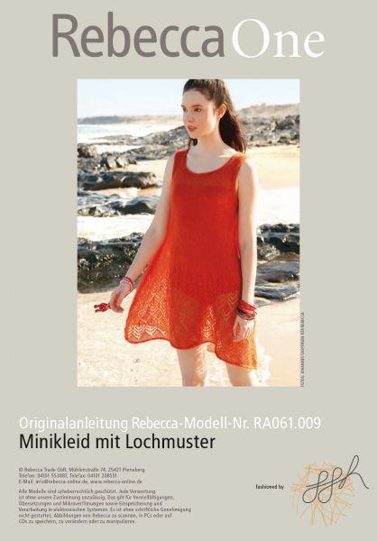 Minikleid mit Lochmuster