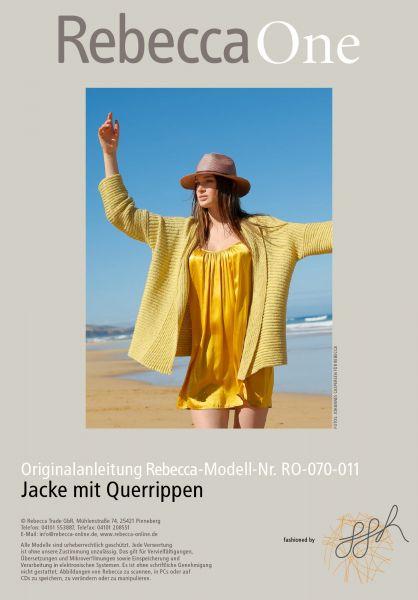 Strickmuster - Jacke mit Querrippen