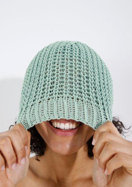 Mütze im Halbpatent