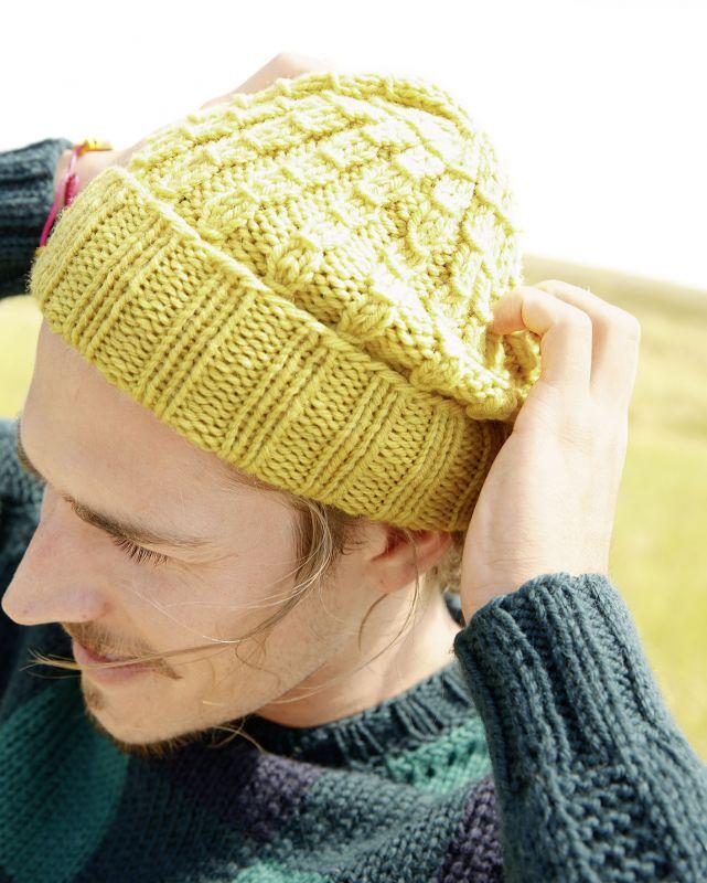 Männer-Strickmode: Mütze