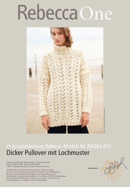 Dicker Pullover mit Lochmuster