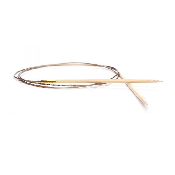 Rundstricknadel Bambus - 100 cm