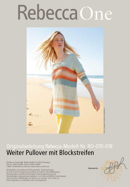 Strickmuster - Weiter Pullover mit Blockstreifen