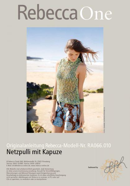 Netzpulli mit Kapuze