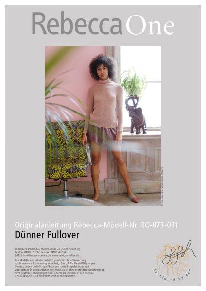 Strickanleitung - Dünner Pullover