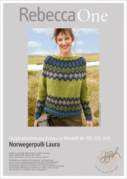 Strickanleitung - Norwegerpulli Laura