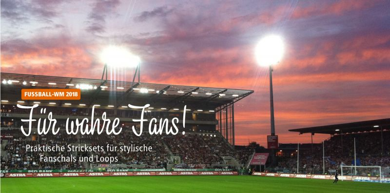 WM 2018: Fanschal Deutshlandschal stricken