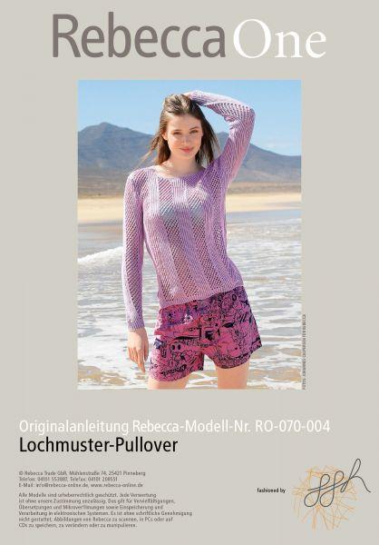 Strickmuster - Lochmuster-Pullover