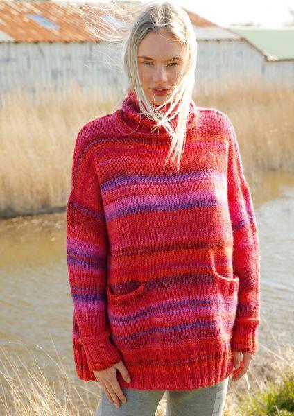 Weiter Rollkragen-Pullover