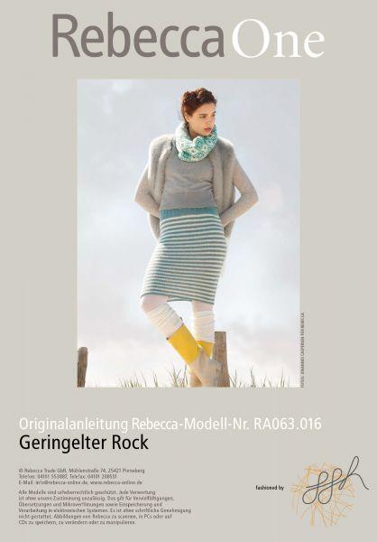 Strickmuster - Geringelter Rock | Rebecca