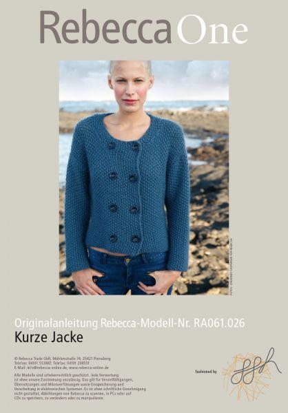 Kurze blaue Jacke