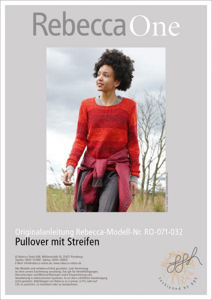 Strickanleitung - Melierter Pullover