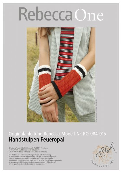 Anleitung - Handstulpen Feueropal