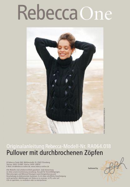 Pullover mit durchbrochenen Zöpfen