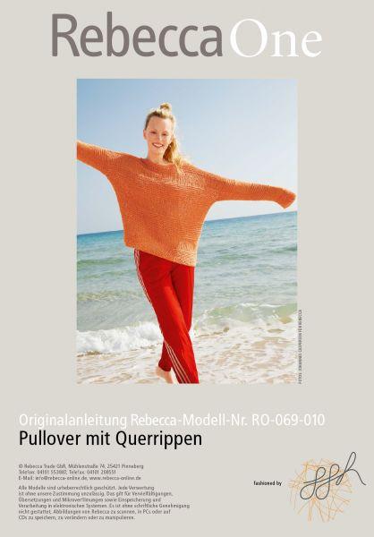 Strickmuster - Pullover mit Querrippen
