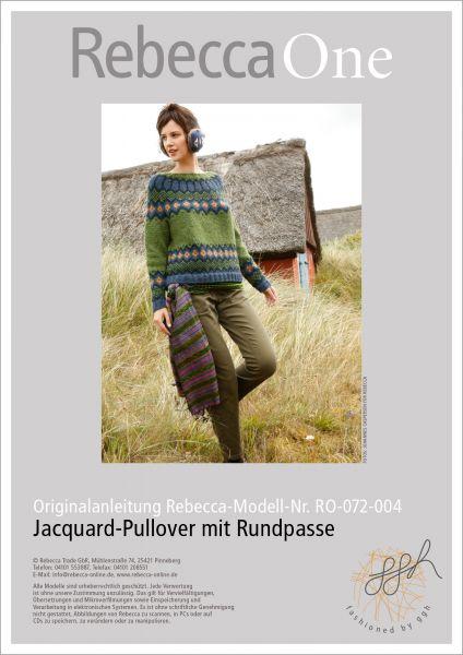 Strickanleitung - Jacquard-Pullover mit Rundpasse