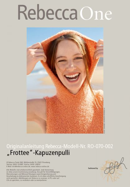 "Strickmuster - ""Frottee""-Kapuzenpulli"