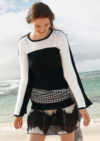 Strickanleitung - Pullover in Schwarz-Weiß