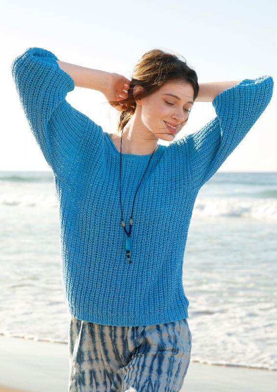 Stricken für Anfänger: Weiter Pullover