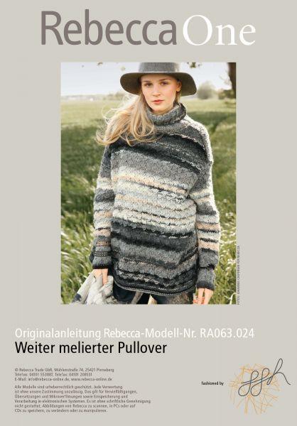 Weiter melierter Pullover