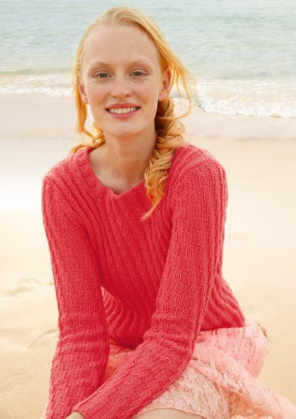 Pullover mit versetzten Rippen