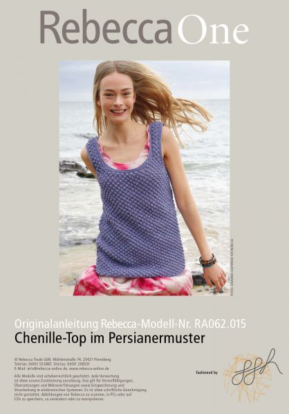 Chenille-Top im Persianermuster