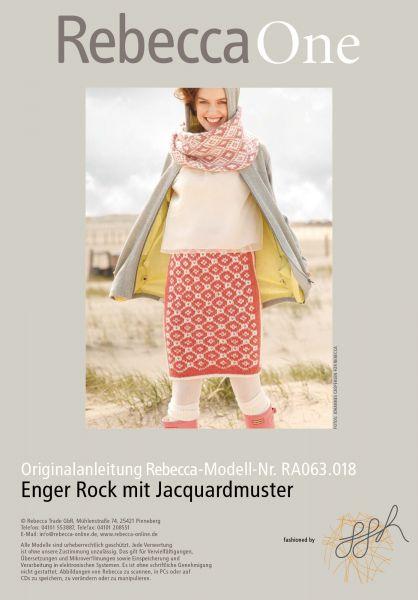 Enger Rock mit Jacquardmuster